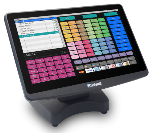 Uniwell HX-5500 POS terminal - ideal for cafes, bars, bistros and food retail
