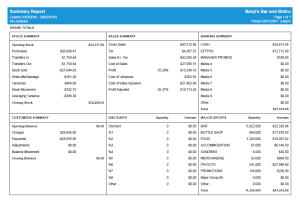 Advanced Uniwell Lynx Stock Control reporting