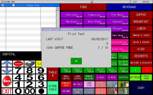 Uniwell Lynx provides extensive Customer Management features for cafes and restaurants